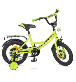 Велосипед детский PROF1 14д. Y1442 (1шт) Original boy,салатовый,звонок,доп.колеса