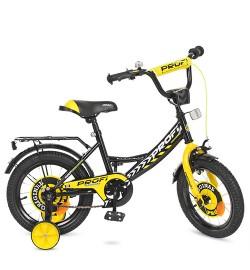 Велосипед детский PROF1 14д. Y1443 (1шт) Original boy,черный,звонок,доп.колеса