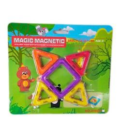 Конструктор JH8851A (72шт) магнитный, 5дет, микс цветов, на листе, 21,5-19-0,5см