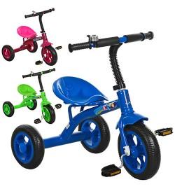 Велосипед M 3252 (3шт) 3колеса,колесаEVA,д72-ш47-в65см,3цвета(голубой, розовый, зеленый),