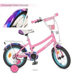 Велосипед детский PROF1 12д. Y12162 (1шт) Geometry, розовый(мат),звонок,доп.колеса
