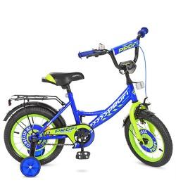 Велосипед детский PROF1 14д. Y1441 (1шт) Original boy,синий,звонок,доп.колеса