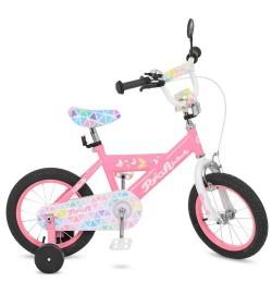 Велосипед детский PROF1 16д. L16131 (1шт) Butterfly 2,розовый, звонок,доп.колеса