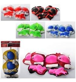 Защита MS 0032-2 (50шт) для коленей, локтей, 6 цветов, в сетке, 19-34-5см