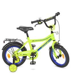 Велосипед детский PROF1 14д. Y14102 (1шт) Top Grade, салатовый,звонок,доп.колеса