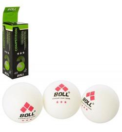 Теннисные шарики MS 1650 (200шт) 3шт, 40мм, бесшовный, в кор-ке, 16-4-4см