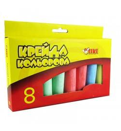 Мел цветной 6 цв.  8 шт Jumbo  в кар уп 51511-ТК TIKI