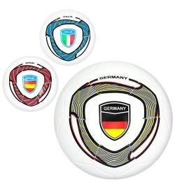 Мяч футбольный EV 3281 (30шт) размер5, ПВХ, 300-320г, 3цвета, страны, в кульке