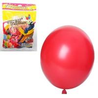 Шарики надувные MK 1522 (100шт) 10 дюймов, металлик, микс цветов, 50шт в кульке,20-18-2см