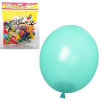 Шарики надувные MK 1523 (100шт) 9 дюймов, металлик, микс цветов, 50шт в кульке,20-18-2см
