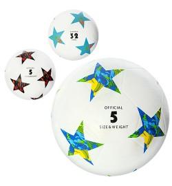Мяч футбольный VA 0032 (30шт) размер 5, резина, гладкий, 400г, 3 вида,