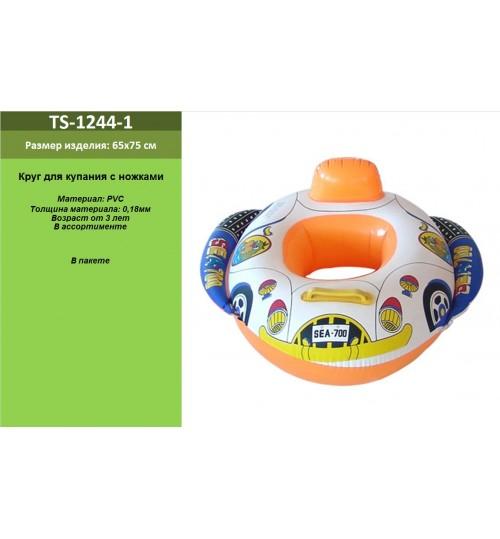 Плотик надувн. TS-1244-1 (120шт) с ножками в ассорт, винил в пакете