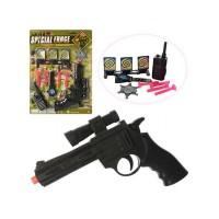 Полицейский набор 992-1 (1559494) (144шт/2) пистолет, присоски, мишени, на планшетке 38,5*28,5*2,5с