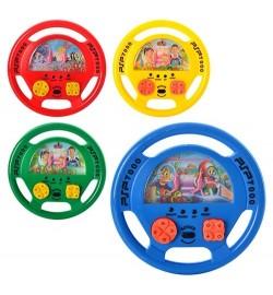 Игра водяная M 2634 (360шт) руль, 3 вида (4 цвета), в кульке, 14-14-2см