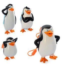 Водяной пистолет M 5557 (72шт) пингвин,цена за 4шт, от 10см, микс видов, в кульке, 21-10-5см