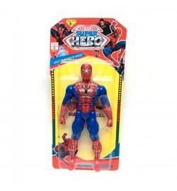 Супергерой 945A-3 (288шт) СП, 19см, свет, подвижн.руки и ноги, на бат(табл),на листе, 13,5-29-3см
