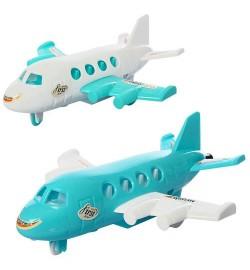 Самолет 890-8-10 (240шт) 16,5см, на запуске, 2цвета, в кульке, 12-16-5см