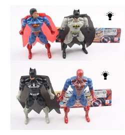Супергерои 663A-2-B-2 (150шт) 16см, 2шт(СП,ВМ), свет, 2вида, бат(таб), в кульке, 19,5-23-2см