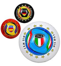 Мяч футбольный EV 3284 (30шт) размер5, ПВХ, 300-320г, 3вида, страны,