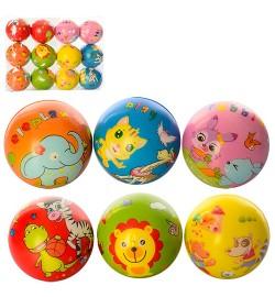 Мяч детский фомовый MS 1012 (360шт) 6,5см, животные, микс видов