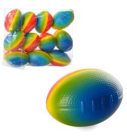 Мяч детский фомовый MS 1353 (360шт) регби, радуга, 9см, упаков12шт в кульке,25-19-5,5см