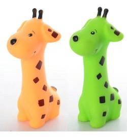 Животное 6224-1 (360шт) жираф 14,5см, пищалка, 2 цвета, в кульке, 12,5-21-5,5см