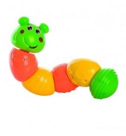 Гусеница BB135 (288шт) 26см, погремушка, в кульке, 26-7,5-7см