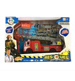 Набор спасателей 999B-3B (36шт) пожарный, 17см, фигурка10см, аксесс,в кор-ке, 25-18-7см