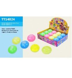 Лизун TT14024 (480шт) MM в коробочке 6,5 см, 4 цвета,в боксе 24шт/цена за шт/