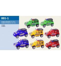 Машина инерц 001-1 (576шт/2) в пакете 13*20см