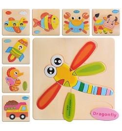 Деревянная игрушка Пазлы MD 0689 (200шт) 8 видов, в кульке, 14,5-14,5см