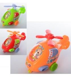 Вертолет 2515 (480шт) заводной 12,5см, 3цвета, в кульке, 13-5,5-8см