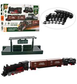 ЖД 814-1 (36шт) 74-74см, локомотив- звук, свет, вагон 2шт, 16дет, на бат-ке, в кор-ке, 50-29,5-6см