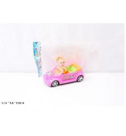 Кукла маленькая 689-6 (360шт/4) с автомобилем...в пак.13*6*10 см