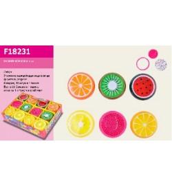 Лизун F18231 (576шт) фрукты, 6 видов, 6 см, 36шт в дисплей боксе
