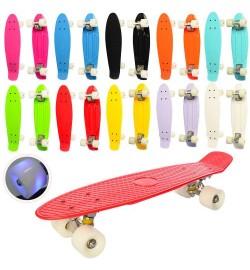 Скейт MS 0848-7 (16шт) пенни,56,5-15см, антискольз,колесаПУсвет LED,алюм.подв,подш608Z,разобр, 9цв