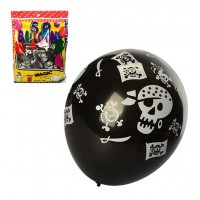 Шарики надувные MK 1735 (50шт) 12дюймов, 2вида, цвет черный, 50шт в кульке, 18-25-4см