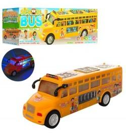 Автобус LX371 (48шт) школьный, 25см, звук, свет, ездит, на бат-ке, в кор-ке, 25,5-9-7см