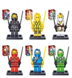 Конструктор PINBA NINJA 0215E (576шт/2) 6 разных героев на выбор, в коробке 11,5*8*4см