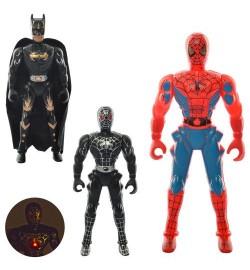 Супергерой 1135BDE (480шт) свет, подвижн.руки, 3вида(BM,2вид-СП, бат(табл), в кульке, 7,5-17-3см