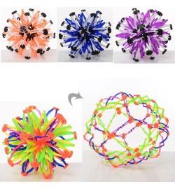 Мяч X13467 (120шт) трансформер, микс цветов, в кульке, 17-17-17см