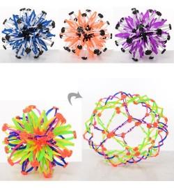 Мяч X13468 (240шт) трансформер, 4цвета, в кульке, 13-13-13см
