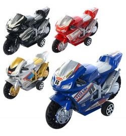 Мотоцикл 66-1 (612шт) инер-й, 9,5см, 4вида, в кульке, 9,5-5,5-3,5см