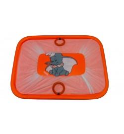 Манеж эконом Слоник оранжевый мелкая сетка, дно твердое размер 90:60см