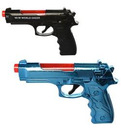 Пистолет 4141-41-1 (180шт) 17,5см, звук, свет, 2 вида(микс цветов), на бат-ке, в кульке, 17-12-3см