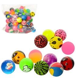 Прыгуны MS 1337 (700шт) 3,2см, каучук, микс видов, упаковка100шт в кульке