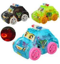 Машинка XX398 (240шт) заводная, полиция, свет,3 цвета,на бат(табл),в кульке, 11-8-8,5см