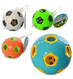 Погремушка 600-610C (180шт) мяч, 2вида, в сетке, 10-10-10см