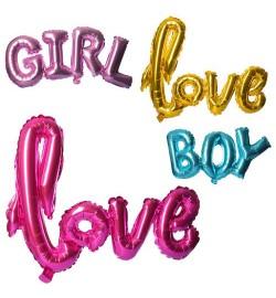 Шарики надувные фольгированные MK 2266 (150шт) 3в(Boy91-38,Girl106,5-37,5,Love101-67),кул,14-20-0,5