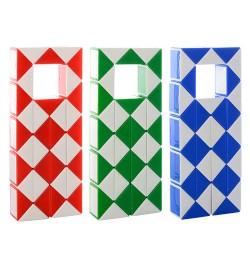 Игра 8003-2 (216шт) головоломка, змейка, 2цвета, в кульке, 13-5,5-2см